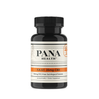 Pana Health FAST CBD 25 mg bottle with 30 tablets in single bottle