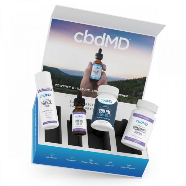 cbdMD CBD Starter Kit Products