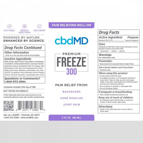 cbdMD The Perfect Two Bundle Back Label