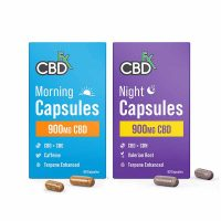 CBDFX Morning & Night CBD Capsules Set